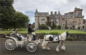glenapp castle exterior horse and carriage