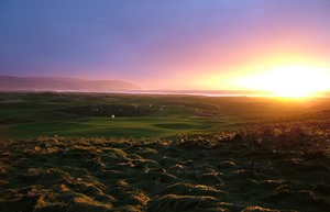Machrihanish Dunes 18th Green Sunset